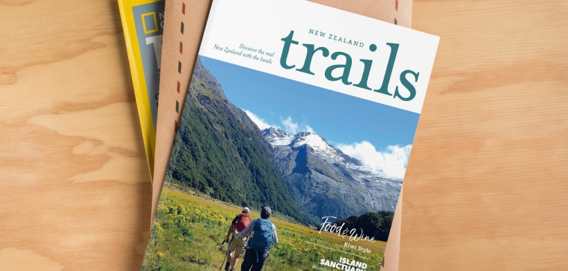 New Zealand Trails brochure, National Geographic Traveler