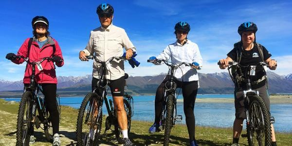 7 biking ride lake pukaki group