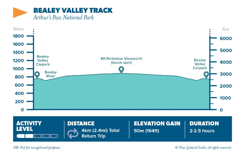 World heritage Bealey valley track