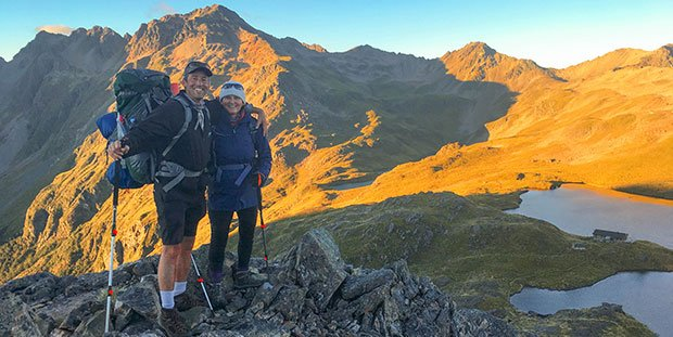 Angelus Circuit hike Nelson Lakes, active New Zealand tours