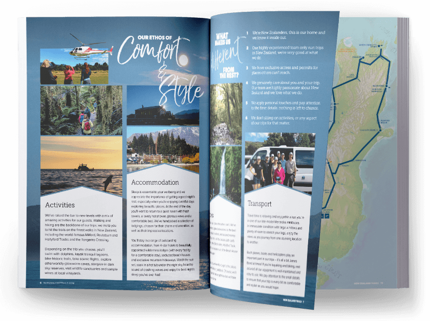 New Zealand Hiking Trails Brochure