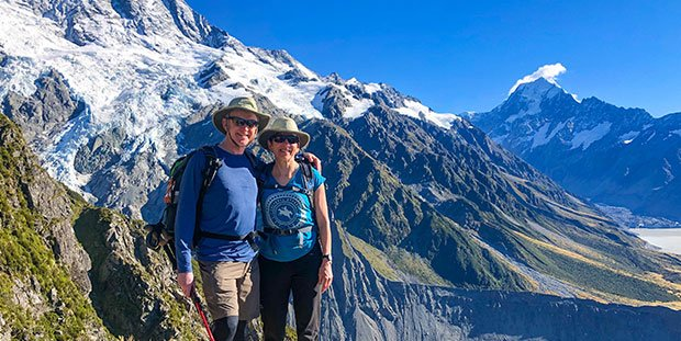 Hiking Mount Cook National Park, New Zealand South Island tour