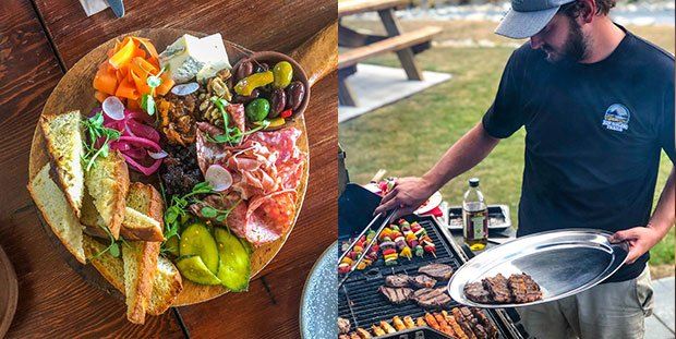 Antipasto platter and classic Kiwi barbecue with New Zealand guided tours