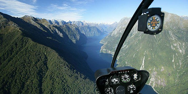 Milford Sound helicopter tour, adventure travel New Zealand
