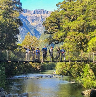 Hollyford Track, luxury hiking tours New Zealand