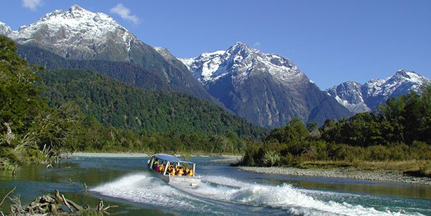 Hollyford Valley boat cruise, luxury tours New Zealand