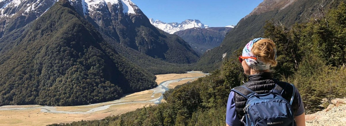 view of routeburn valley