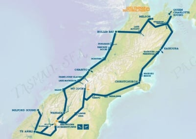 Show Me A Map Of New Zealand.Adventure Tour New Zealand Masterpiece New Zealand Trails