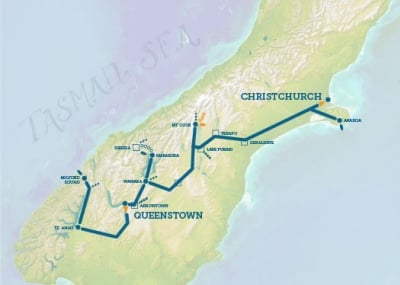 New Zealand Must See Map.South Island New Zealand Tour Pure South New Zealand Trails