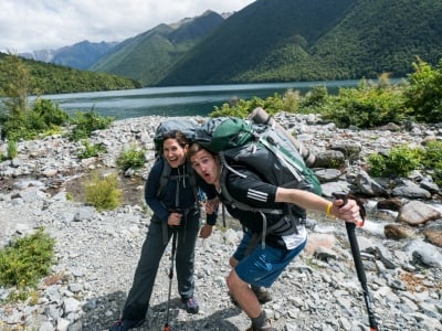 lake rotoiti hiking poles