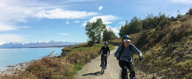lake pukaki mountain biking