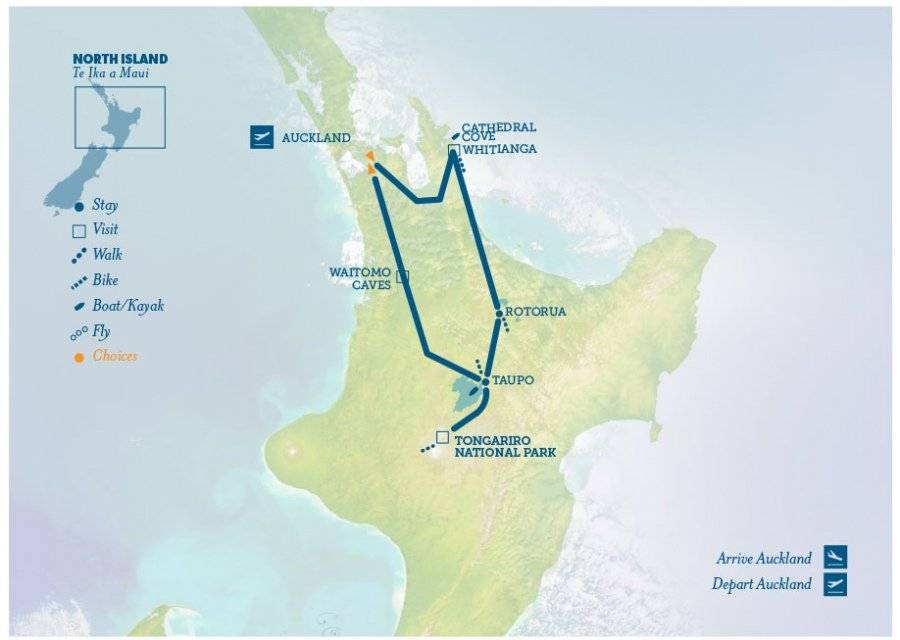 New Zealand Tourist Map North Island.New Zealand North Island Tour Sweet North New Zealand Trails