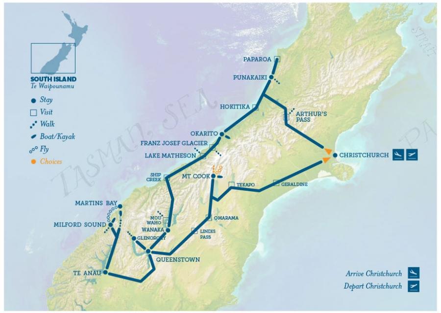 New Zealand Location On World Map.World Heritage Our Original Luxury Walking Tour New Zealand Trails