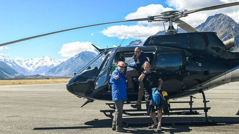 New Zealand solo travel itinerary - Helicopter tour of Tasman Glacier