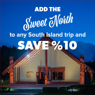 Combine New Zealand North Island tour with New Zealand South Island tour and save 10 percent