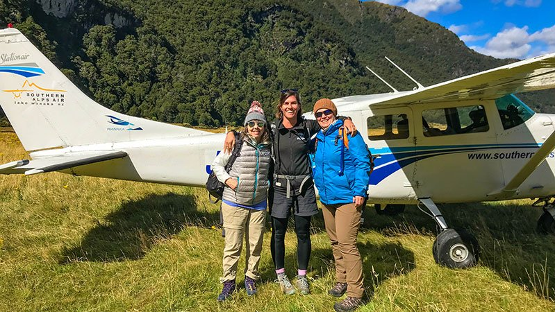 New Zealand Trails scenic flight into Siberia Valley