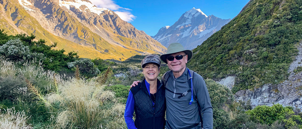 New Zealand adventure tour in the Hooker Valley