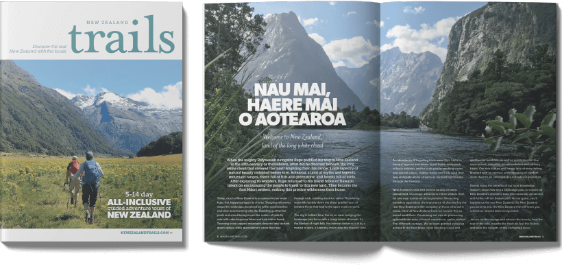 new zealand trails brochure spread
