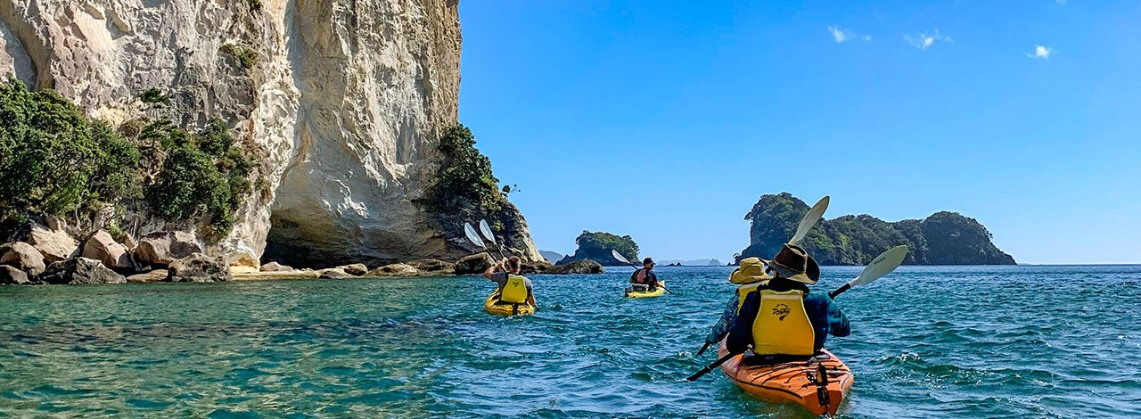 sweet north kayaking cathedral cove fitness