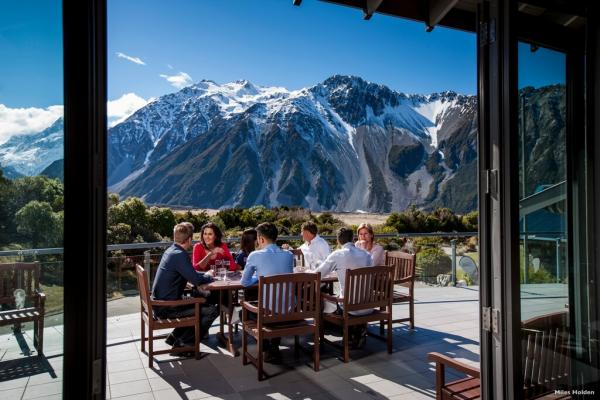 The Hermitage Hotel in Aoraki Mount Cook National Park
