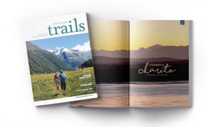 New Zealand Trails magazine cover