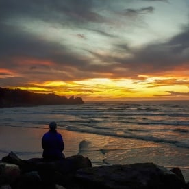 Sunset at Punakaiki, West Coast New Zealand