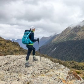 Atop of the Key Summit Lookout Trail Lake, Fiordland New Zealand