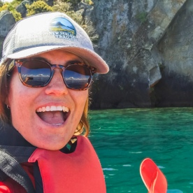 Happy New Zealand Trails guide kayaking on Lake Taupo