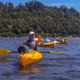 Kayak tour at Okarito Lagoon, West Coast New Zealand