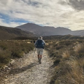 Walking at Tongariro National park,  Manawatu-Wanganui New Zealand