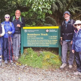 Group at Routeburn track, Otago New Zealand