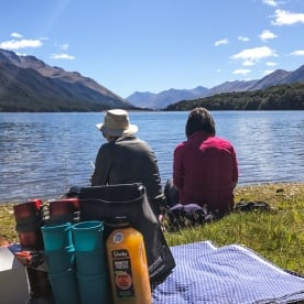 Ladies at South Mavora Lake, Southland New Zealand