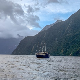 Milford mariner boat at Milford Sound, Fiordland New Zealand