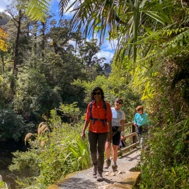 Walking at Porarari river, Paparoa National Park West Coast New Zealand