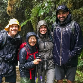 Group at Milford Track, Fiordland New Zealand
