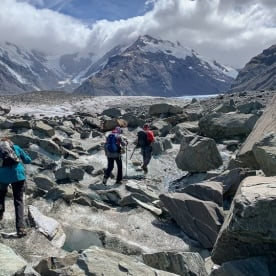Hiking the Tasman Glacier, Canterbury New Zealand