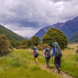 Walking the Nelson Lakes National Park, Tasman New Zealand