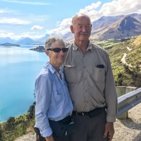 Couple at Lake Wakatipu, Otago New Zealand