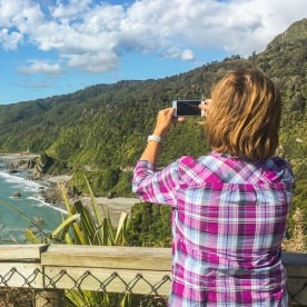Taking picture at West Coast New Zealand