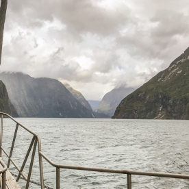 Boat tour at at Milford Sound, Fiordland New Zealand