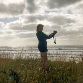 Taking picture at West Coast, New Zealand