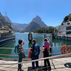 Group at Milford Sound, Fiordland Southland New Zealand