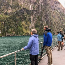 On the boat at Milford Sound, Fiordland National Park New Zealand