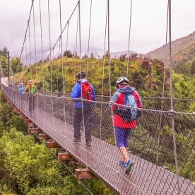 Passing bridge at Otago, New Zealand