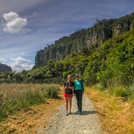 Walking the Porarari river, Paparoa National Park West Coast New Zealand
