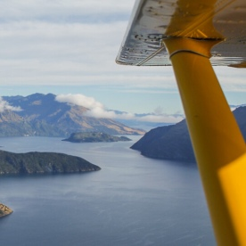 Scenic flight at Mount Aspiring National Park, Otago New Zealand