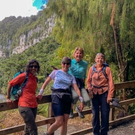 Group at Porarari river, Paparoa National Park West Coast New Zealand
