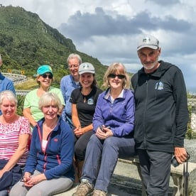 Group at Meybille Bay, West Coast New Zealand
