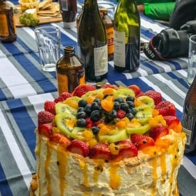 Pavlova Cake and Beers at Otago, New Zealand