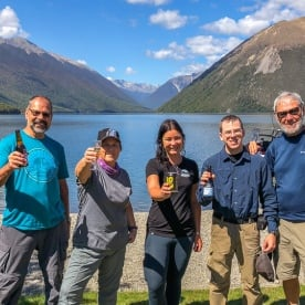 Group at Lake Rotoiti, Tasman New Zealand